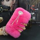 Luxury Warm Soft Rabbit Fur Skin Pendant Tassels Case Cover For Iphone4 5 6 7P