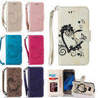 Love Heart Flip PU Leather Card Wallet Stand Case Cover For iPhone Samsung LG