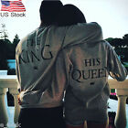 King &Queen Letter Printed T-Shirt Cotton Long Sleeve Tops Blouse Couple Shirts