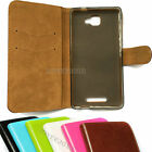 Soft TPU + PU Leather Fitted Wallet Case Cover For Vivax Smart Fly V550