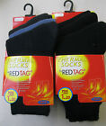 BOYS / GIRLS BLACK OR BLUE 1.20 TOG WARM WINTER THERMAL 3 PACK SOCKS - RED TAG