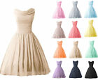 Short Formal Chiffon Bridesmaid Cocktail Dresses Wedding Party Evening Prom Gown