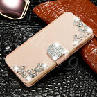 Bling Diamond Crystal Rhinestone Leather Flip Wallet Phone Case Cover For Phones