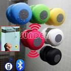 Waterproof Wireless Bluetooth Handsfree Mic Suction Shower Speaker Car Stereo UK