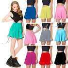 Candy Color Women High Waist Short Swing Skirt Pleated Mini Skater Flared Dress