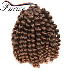 8inch Ombre Wand Curl Hairstyle Havana Crochet Braids Hair Extensions For Women