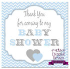 White Baby Shower Square Thank You Sticker Seal (6 Designs)