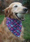 Winter plaid snowflake Dog over the collar Bandana