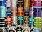 Full Reel Double Sided SHINDO SATIN Quality Tying Ribbon Crafts 15mm x 25 Metres