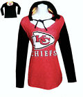 Nfl Womens Apparel - Kansas City Chiefs Ladies Poly-Hooded Game-Day Team Shirt