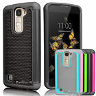 Hybrid Armor Impact Protective Slim Case Cover for LG K8 / Phoenix 2 / Escape 3