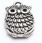5/20Pcs Tibet Silver Fat Owl Shape Charms Pentant Jewelry Makings DIY 18*13mm