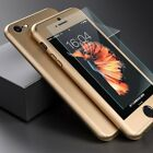 360&deg; Full Hybrid Acrylic Hard Case Cover+Tempered Glass For iPhone 5 6 &amp; 6S Plus <br/> iPhone 7 &amp; 7 Plus ✔PREMIUM QUALITY✔UK Stock✔6 Color✔