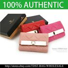[OMNIA]Crystal Ladies Wallet Genuine Leather Trifold Purse ID Card Coins Bag 382 image