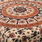 Fair Trade Red & Black Elephant circles matching single / double bedspread throw