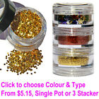 Loose Glitter, Powder & Shapes 4g Clear Pot