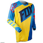 Fox Racing 180 Vandal BLUE YELLOW Motocross BMX Jersey MX Racing YOUTH Kids
