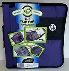 "CASE-IT The Flip Top 3 Ring Binder 2"" Capacity Authentic Original, Purple"