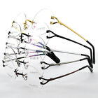 49mm Round Drilled Lens Titanium Rimless Eyeglass Frame Spectacles Rx G280439