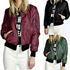 2016 Women Blouse Baseball Zipper Coat Top Ladies Baseball Jacket Size 6 8 10 12