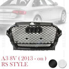 RS3 HONEYCOMB STYLE MESH FRONT GRILLE for AUDI A3 S3 8V 2013-2016 2 VERSIONS
