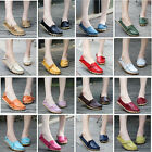 Women's Leather Comfort Casual Walking Bowed Lazy Flat Shoes Loafers Moccasin