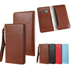 Vintage PU Leather Cover Bag for iPhone Cowhide Pattern Flip Wallet for Samsung