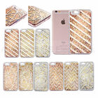 Pattern Shape Clear Glitter Liquid Quicksand Cover Case For iPhone 5 5S 6 7