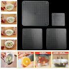 3/4/5 PCS Reusable Silicone Plastic Food Fresh Keeping Wraps Stretch Seal Cover