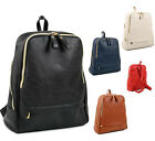 Campus Classic Faux Leather Backpack Stylishly Chic Shoulder Bag Rucksack 7990