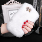 Luxury Bow Bling Warm Soft Furry Rabbit Fur Case Cover Holder For Iphone 5 6 7 8