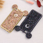 Bling Paillettes Soft TPU Case Fr iPhone 6s 7 Plus 5 Mickey Ear Protective Cover