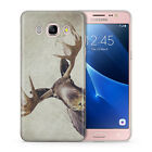 Moose Art Hipster Case Cover for Samsung Galaxy S6 S7 S8 Edge J A