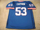 Harry Carson - #53 New York Giants Blue Sewn Jersey = ALL SIZES (Small-5XL)