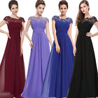Women Lace Long Evening Formal Party Cocktail Dress Bridesmaid Prom Gown 4-16