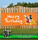 MICKEY MOUSE BIRTHDAY PVC BANNER PARTY CELEBRATION PROMOTIONAL PVC VARIOUS SIZES