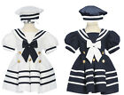 Infant Toddler Girls Sailor dress, NavyBlue/White  6 month to 24 month