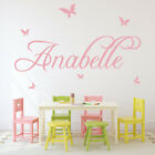 Personalised Name Wall Sticker Butterfly Wall Decal Girls Bedroom Home Decor