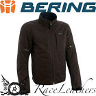 BERING BRODY WATERPROOF MOTORCYCLE MOTORBIKE BIKE JACKET BROWN + BACK PROTECTOR