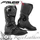 FALCO AVANTOUR BLACK WATERPROOF ADVENTURE MOTORCYCLE MOTORBIKE BOOTS WITH D30