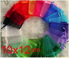 100p 10x12cm Pure mix Christmas Jewlery packing Wedding Organza voile gift bags