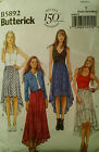 Butterick Pattern 5892 Misses Skirt Choose SZ XS-M  4-14 or L-XXL 16-26