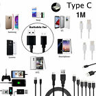 1M TYPE C Cable Charger Sync Data Wire Lead For All TYPE C Ports Phones