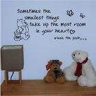 Winnie the Pooh Smallest Things Wall Art Quote Vinyl/Sticker/Nursery/baby/child