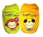 Dog Puppy Cat Clothes Apparel Shirt Tank Vest BEE MONKEY For SMALL Pet XS - L