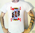 King Of Hearts T-Shirt. Playing Cards Poker Blackjack