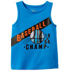NWT Jumping Beans Blue Baseball 1964 Champ Tank Top Baby Boy 12M, 18M