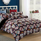 SKULL Duvet/Doona/Quilt Cover Set Queen/King/Super King Size Bed New Floral Line