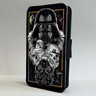 Dark Side Star Wars Darth Vader LEATHER FLIP PHONE CASE COVER IPHONE £8.95 GBP