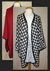 Womans Plus 4X Pleather Trim Open Front Poncho Knit Top New with Tags